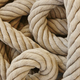 Thick rope with loops. Marine background. Horizontal - PhotoDune Item for Sale