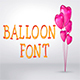 Balloons Font - GraphicRiver Item for Sale