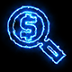 Dollar Blue Electric Fire Icon 01 - VideoHive Item for Sale