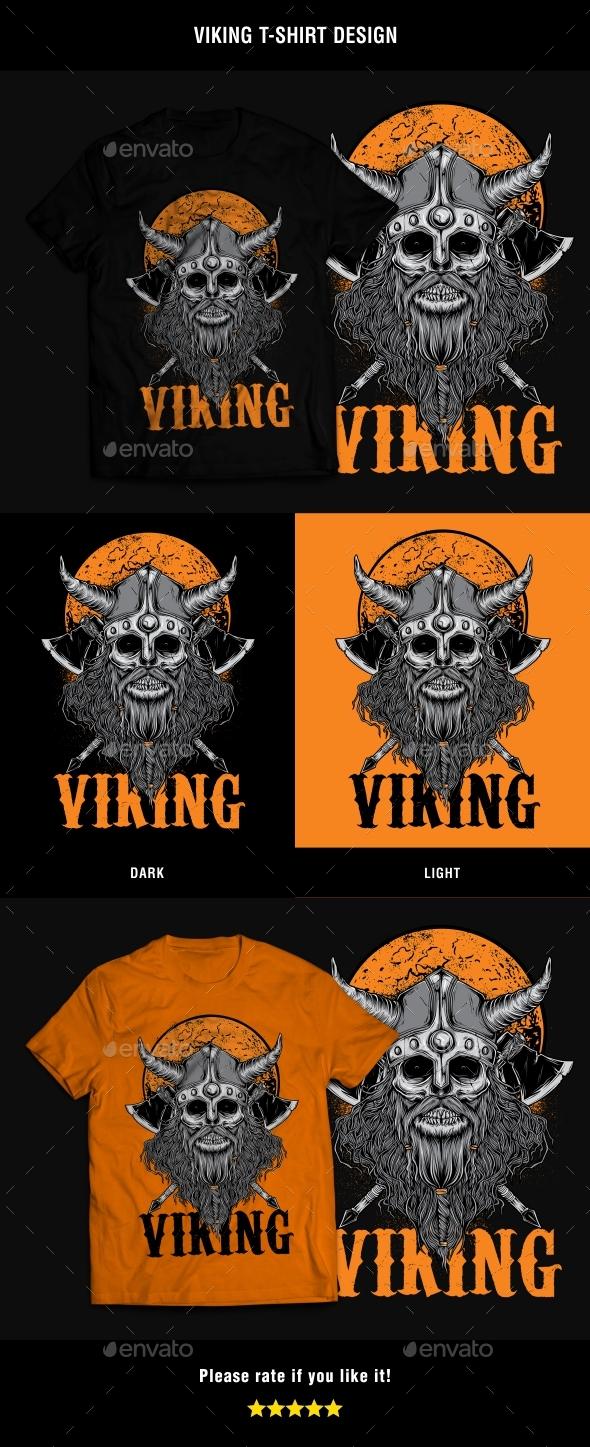Viking T-Shirt Design - T-Shirts