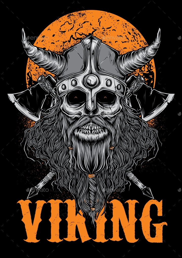 Viking T-Shirt Design by Mamotuo | GraphicRiver