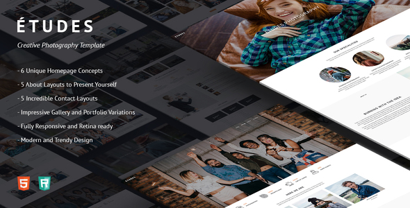 Premium Photo Template - Etudes - Photography Creative