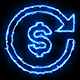 Dollar Blue Electric Fire Icon 06 - VideoHive Item for Sale