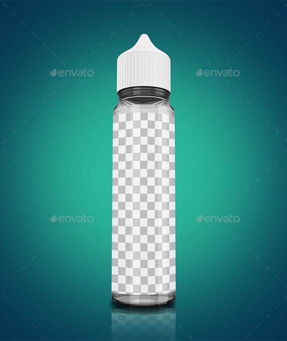 30ml Vape Bottle 3D Mockup - Miscellaneous Packaging