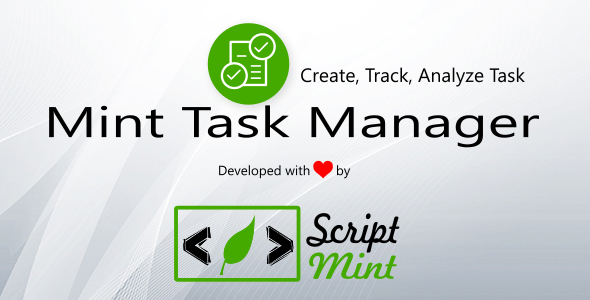Mint Task Manager - CodeCanyon Item for Sale
