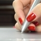 Woman's Hands with Red Manicure Using Pen Tablet. - VideoHive Item for Sale