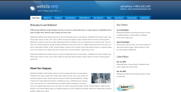 Website Corp Drupal 6 Theme