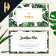 Monstera Watercolor Business Card 01 - GraphicRiver Item for Sale