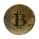 Gold bitcoin on a white background - PhotoDune Item for Sale