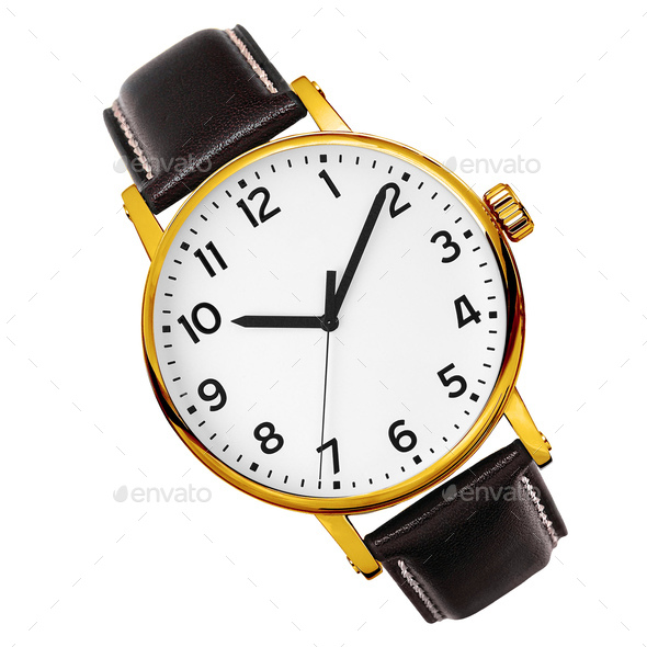 modern watch isolated on a white background - Stock Photo - Images