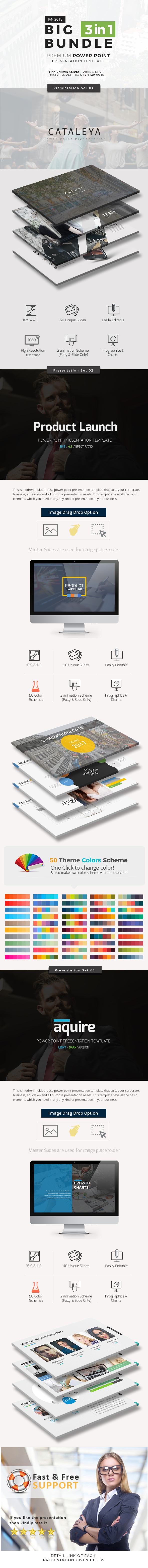 Big Bundle  6 Three in One - Business PowerPoint Templates