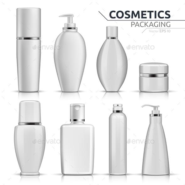 Realistic Cosmetic Containers - Health/Medicine Conceptual