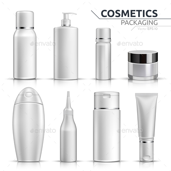 Realistic Cosmetic Bottles Mock Up Set - Health/Medicine Conceptual