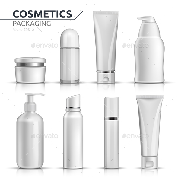 Realistic Cosmetic Containers - Health/Medicine Conceptual
