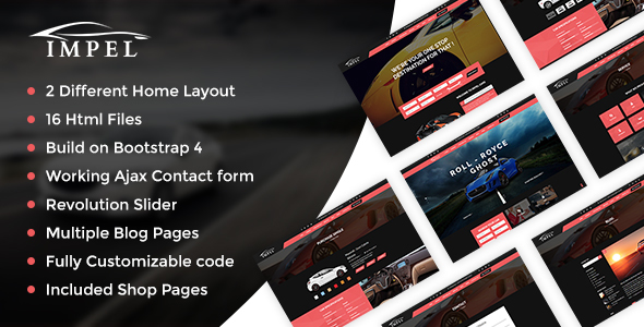 Impel Car Dealer Responsive HTML Template - Business Corporate