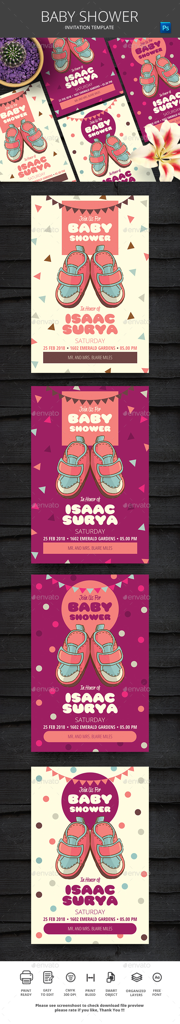 Baby Shower - Events Flyers
