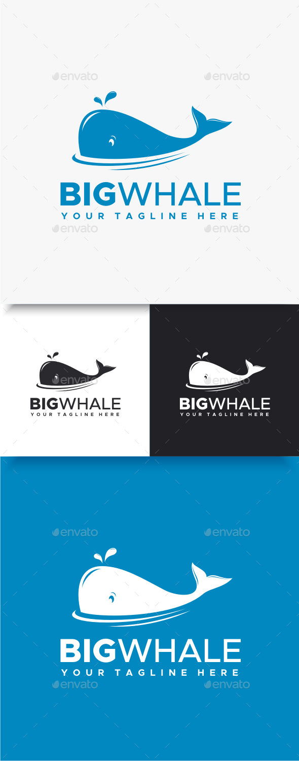 Big Whale Logo - Animals Logo Templates