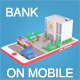 Low Poly Bank on Phone screen - 3DOcean Item for Sale