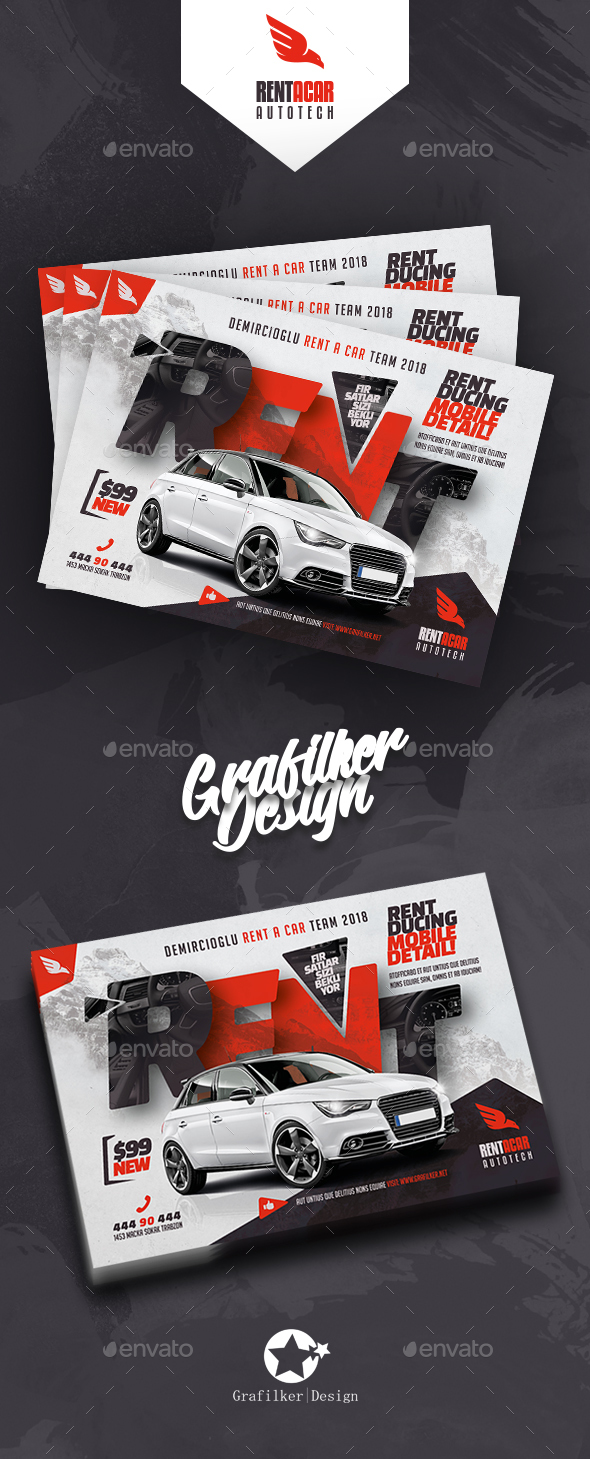 Rent A Car Flyer Templates - Corporate Flyers