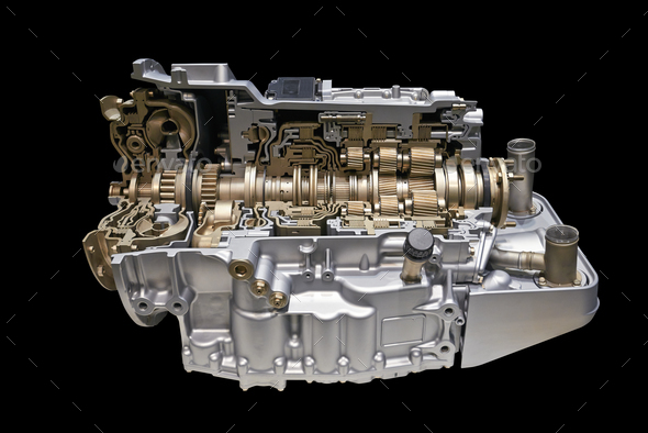 modern Automatic transmission car engine - Stock Photo - Images