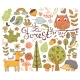 Forest Design Elements in Doodle Style - GraphicRiver Item for Sale