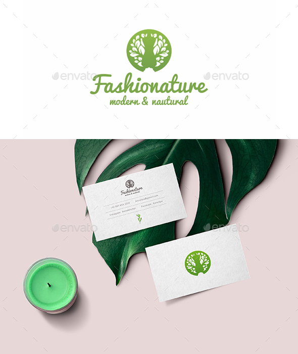 Fashion Nature Tailoring Logo Template - Nature Logo Templates