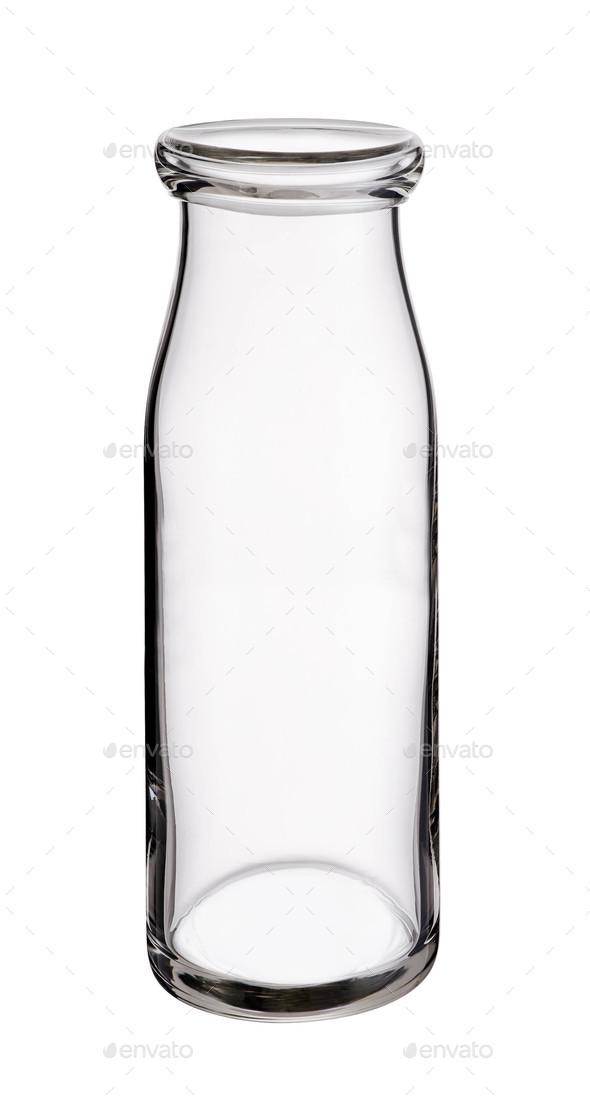 Empty Milk bottle isolated - Stock Photo - Images