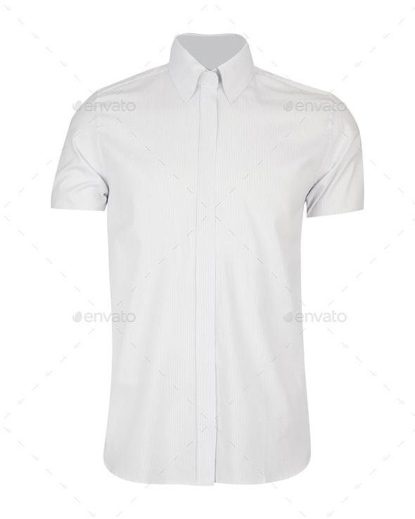 white shirt isolated on white - Stock Photo - Images