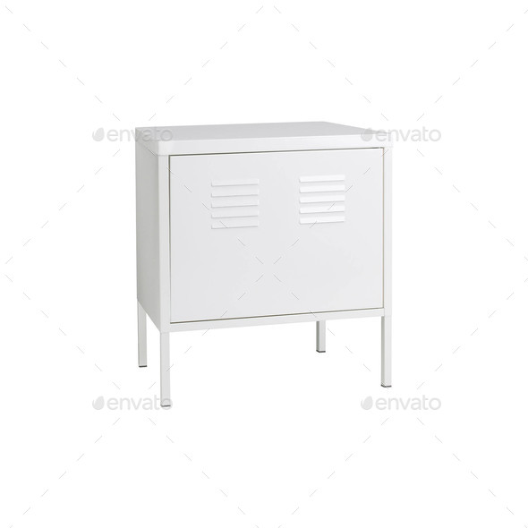 Locker Isolated on a White Background - Stock Photo - Images