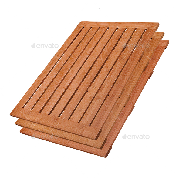 Stack of wooden pallets - Stock Photo - Images