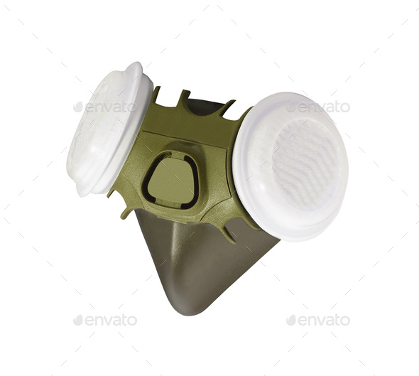 Respirator isolated on white background - Stock Photo - Images