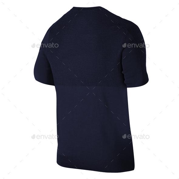 Dark blue tshirt - Stock Photo - Images