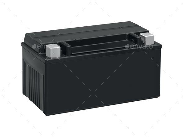 accumulator isolated on white - Stock Photo - Images