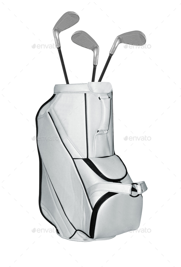 Golf Clubs bag isolated - Stock Photo - Images