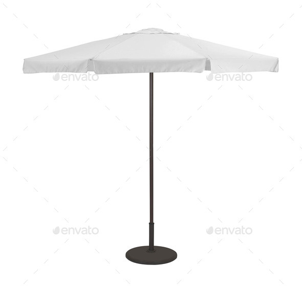 Beach umbrella isolated - Stock Photo - Images