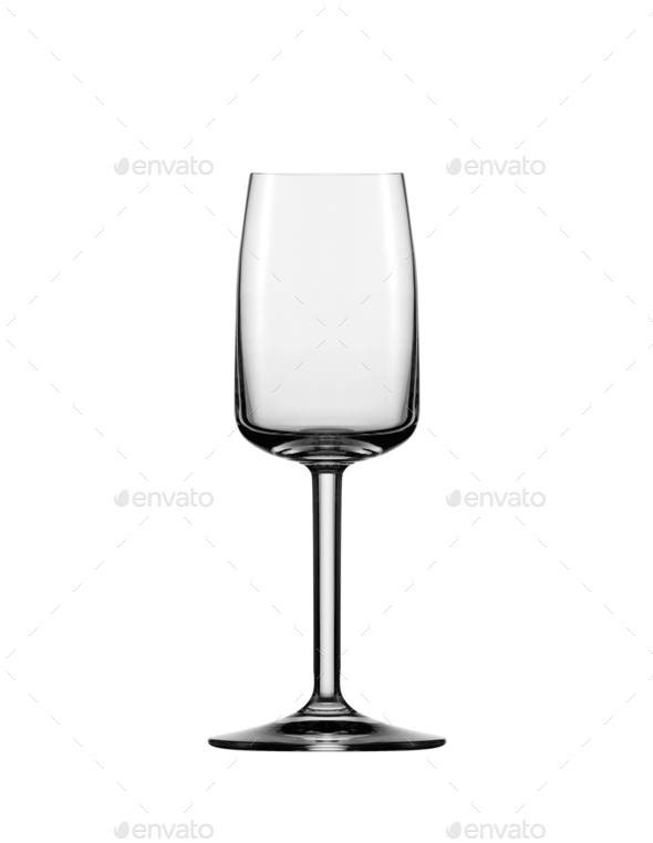 empty champagne glass - Stock Photo - Images