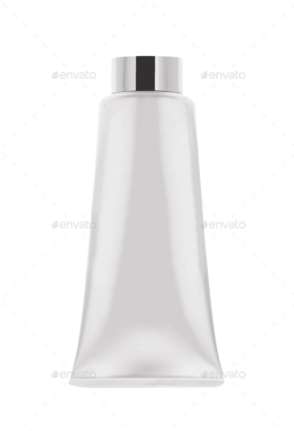 White tube mock-up for cream - Stock Photo - Images