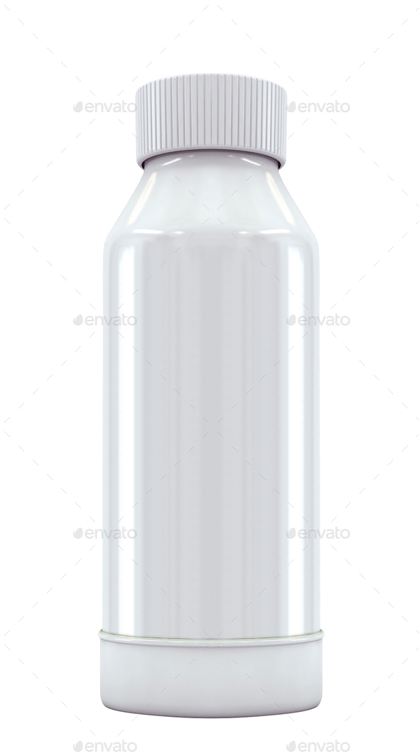 White plastic bottle - Stock Photo - Images