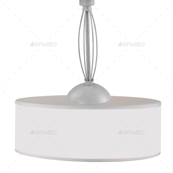 chandelier isolated on white background - Stock Photo - Images
