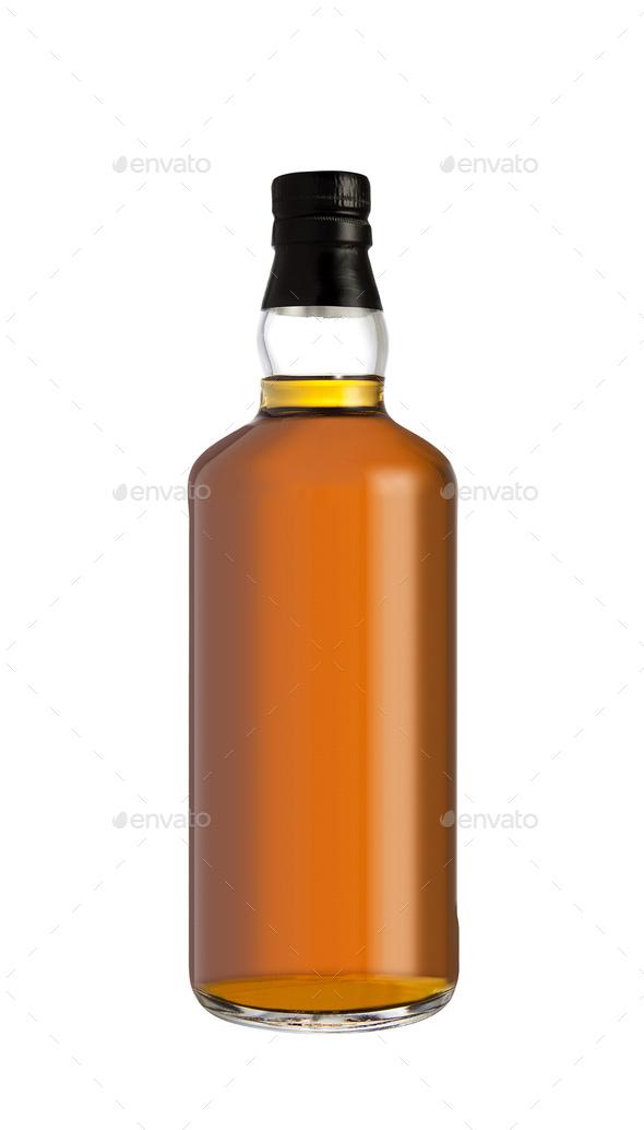 Full whiskey bottle - Stock Photo - Images