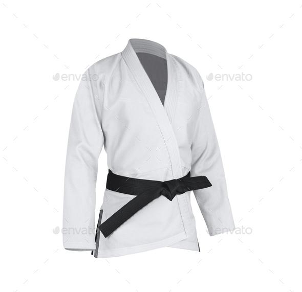 Judogi with black belt - Stock Photo - Images