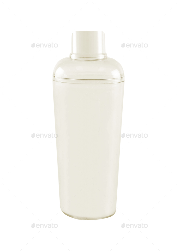 Plastic glass isolated on white - Stock Photo - Images