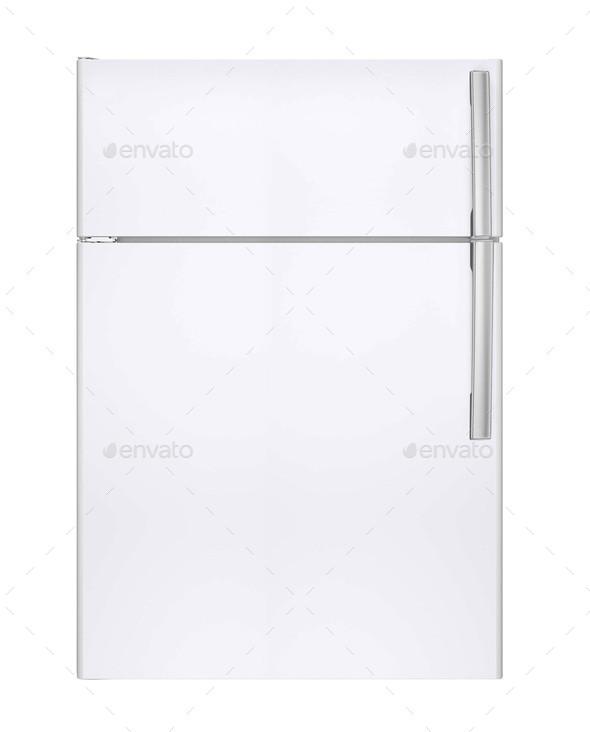 refrigerator on isolated background - Stock Photo - Images