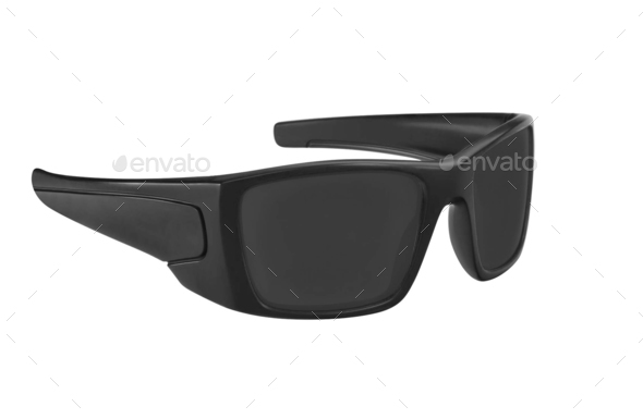 Black sunglasses isolated on a white background - Stock Photo - Images