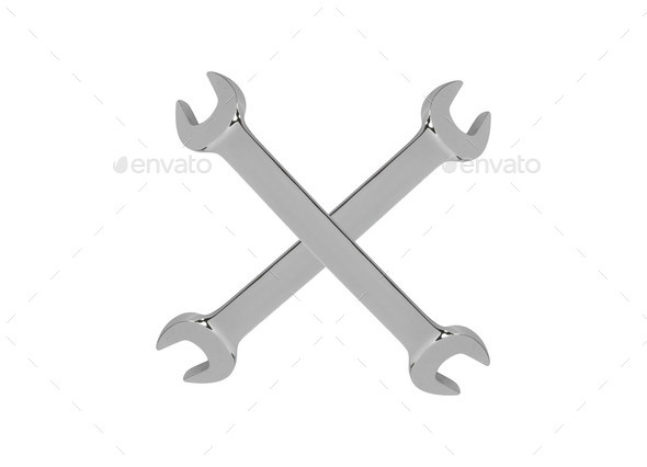 Wrench isolated on white background - Stock Photo - Images