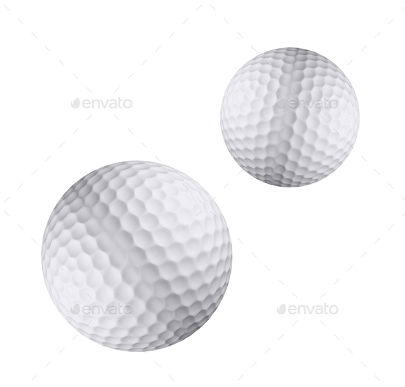 Golf ball isolated - Stock Photo - Images