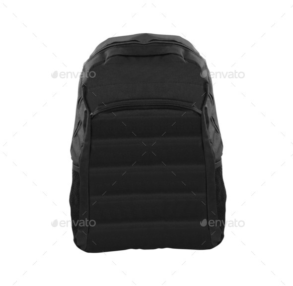 Backpack isolated on white background - Stock Photo - Images