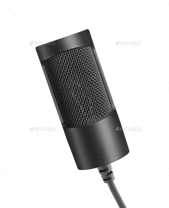microphone on a white background - Stock Photo - Images