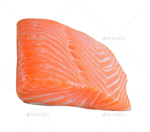 fresh salmon fillet - Stock Photo - Images