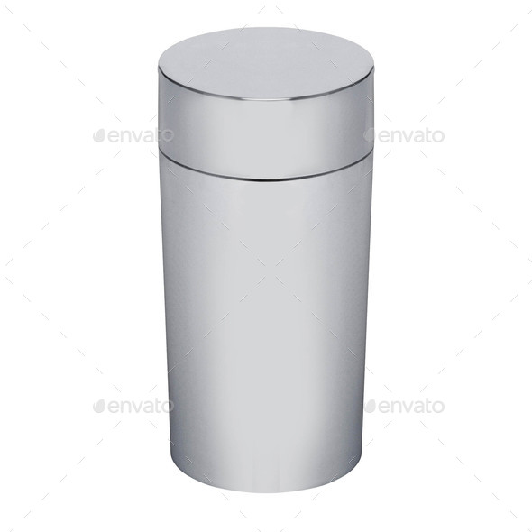 Thermos flask isolated on white background - Stock Photo - Images